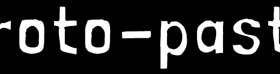 Proto-pasta logo - white